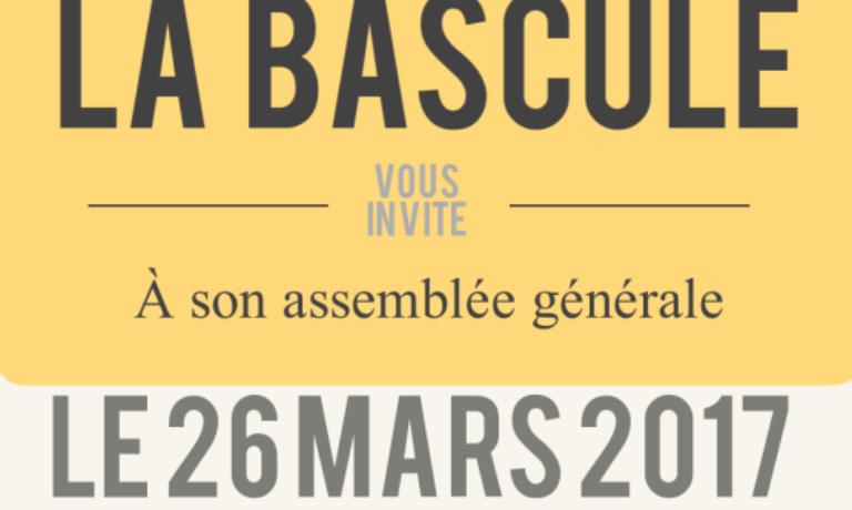 Assemblée Générale le 26 mars 2017 – 9H30 (pour les croissants)